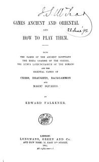 Games Ancient and Oriental  and how to Play Them Book