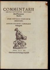 Commentarii explicationum secundi libri Homericae Iliados: Item conversio Graecorum versuum in Latinos
