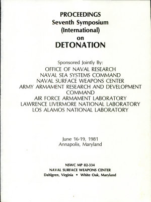 Proceedings  Seventh Symposium  International  on Detonation