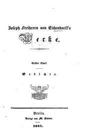 Werke: Gedichte, Band 1
