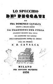 Lo specchio de' peccati di fra Domenico Cavalca
