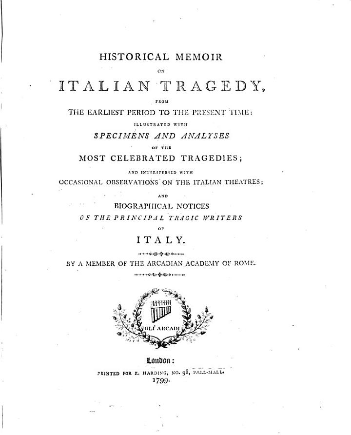 Historical Memoir on Italian Tragedy