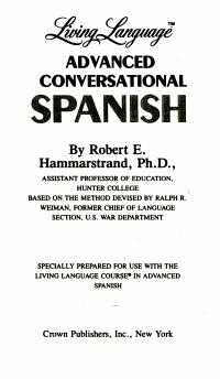 Advanced living Spanish