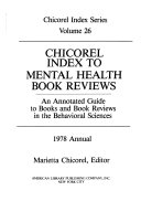 Chicorel Index to Mental Health Book Reviews PDF