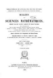 Bulletin des sciences mathématiques: Volume17;Volume28