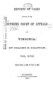 Cases Decided in the Supreme Court of Appeals of Virginia: Volume 58