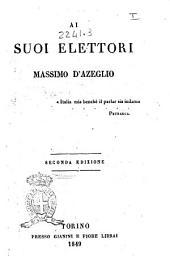 Ai suoi elettori Massimo D'Azeglio