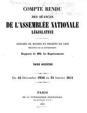 Compte rendu des séances de l'Assemblée nationale: Volume11