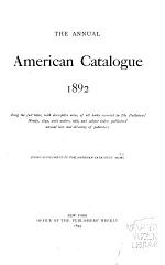 The Annual American Catalogue 1886-1900