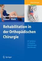 Rehabilitation in der Orthop  dischen Chirurgie PDF