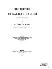 Tre Lettere di Galileo Galilei