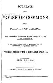 Journals of the House of Commons of the Dominion of Canada: Volume 17