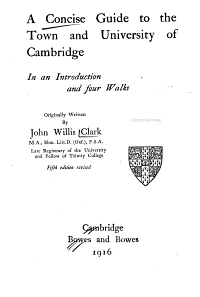A Concise Guide to the Town and University of Cambridge PDF