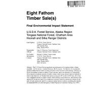 Tongass National Forest (N.F.), Eight Fathom Timber Sale(s): Environmental Impact Statement, Volume 1