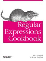 Regular Expressions Cookbook PDF