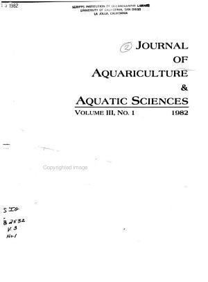 Journal of Aquariculture and Aquatic Sciences