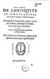 Petit traité de l'antiquité et singularité de Bretagne Armorique