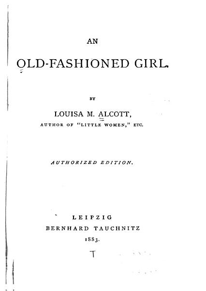 Download An Old fashioned Girl Book