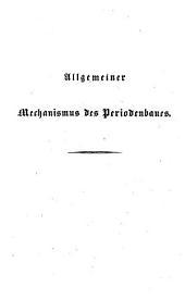 Allgemeiner Mechanismus des Periodenbaues, nebst einem Versuche, an ihn eine Kritik der deutschen Periode anzuknüpfen