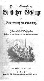 Geistliche Gesänge: Volume 3
