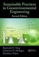 Sustainable Practices in Geoenvironmental Engineering  Second Edition PDF