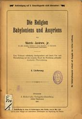 Die Religion Babyloniens und Assyriens...: Band 2