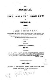 Journal of the Asiatic Society of Bengal: Volume 5