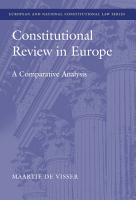 Constitutional Review in Europe PDF