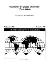 Superalloy Degassed Chromium from Japan, Inv. 731-TA-1090 (Final)