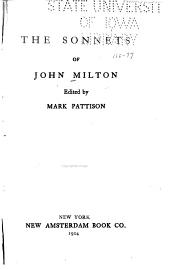 The Sonnets of John Milton