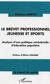 Le brevet professionnel jeunesse et sport: Analyse d'une politique ministérielle d'éducation populaire