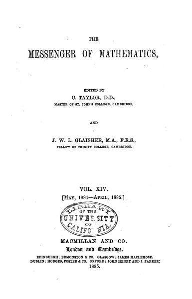 Download Messenger of Mathematics Book