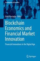 Blockchain Economics and Financial Market Innovation PDF