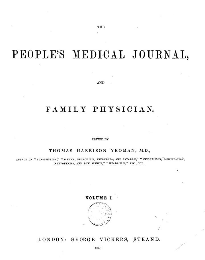 The People's Medical Journal, and Family Physician