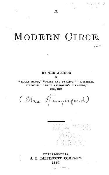 Download A Modern Circe Book