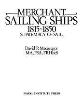 Merchant Sailing Ships  1815 1850 PDF