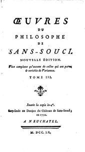 Oeuvres du philosophe de Sans-souci: Odes ; Epîtres ; L'Art de la guerre