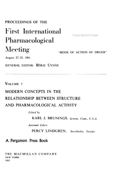 Modern Concepts in the Relationship Between Structure and Pharmacological Activity PDF
