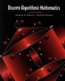 Discrete Algorithmic Mathematics, Second Edition