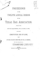 Proceedings of the ... Annual Sessions of the Texas Bar Association: Volume 12, Part 1893