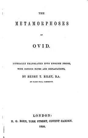 The Metamorphoses of Ovid PDF