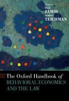 The Oxford Handbook of Behavioral Economics and the Law PDF