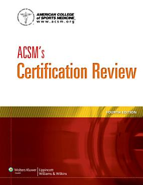 ACSM s Certification Review PDF