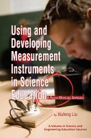 Using and Developing Measurement Instruments in Science Education PDF