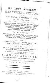 Esychiou Lexikon: Volume 1