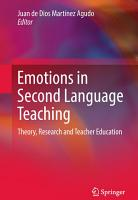 Emotions in Second Language Teaching PDF