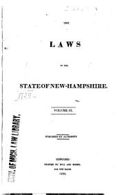 The Laws of the State of New-Hampshire: Volume III : [June Session, 1822-June Session, 1823], Volume 3