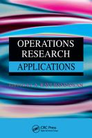 Operations Research Applications PDF