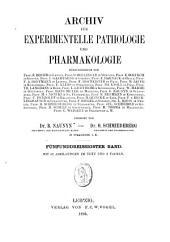 Archiv für experimentelle Pathologie und Pharmakologie: Band 35