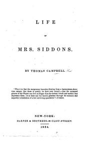 Life of Mrs. Siddons. With a portrait